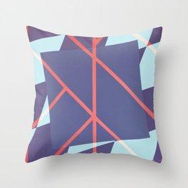 Leaf - diamond graphic Throw Pillow