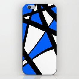 China Blue Geometric Triangle Abstract iPhone Skin