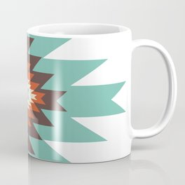 Southwest Santa Fe Geometric Tribal Indian Abstract Pattern Coffee Mug