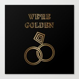 Golden Wedding Anniversary Canvas Print