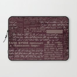 letters Laptop Sleeve