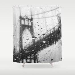 Rainy Bridge Shower Curtain