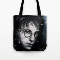 harry Tote Bags featuring Harry by LucioL