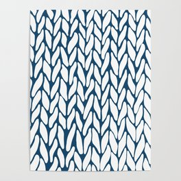 Hand Knitted Navy Poster