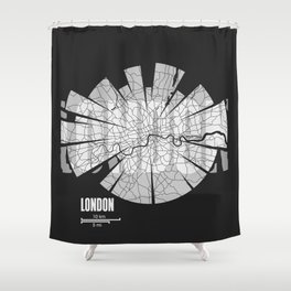 London Map Shower Curtain