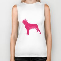 boston terrier Biker Tanks featuring Boston Terrier by Three Black Dots