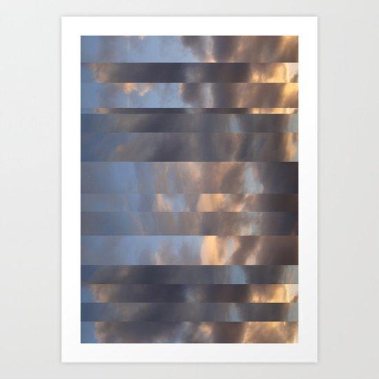 Striped Clouds Art Print