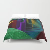 street Duvet Covers featuring Street by Turul