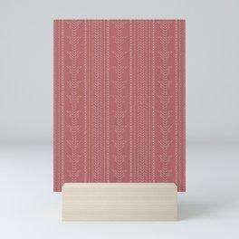 Needlepoint Arrows on Dark Dusty Rose Mini Art Print