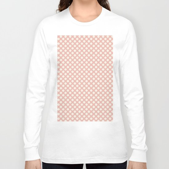 Polka dot dance on pink I -Polkadots pattern Long Sleeve T-shirt