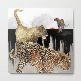 Minimal Leopards Metal Print