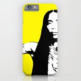 Erykah Stencil iPhone Case