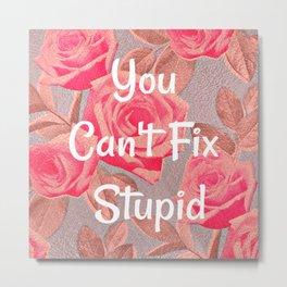You Can't Fix Stupid Metal Print