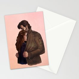 a jacket for two // kabby fanart Stationery Cards
