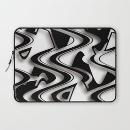 Abstraction in black and white CB Laptop Sleeve