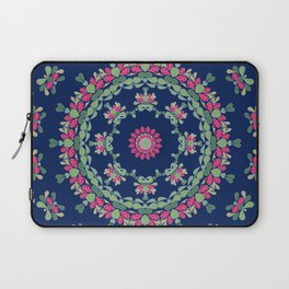 Blue floral ornament Laptop Sleeve