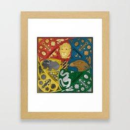 Hogwarts Crest Tapestry Full Color Framed Art Print