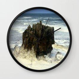 Sea Foam Residue Wall Clock