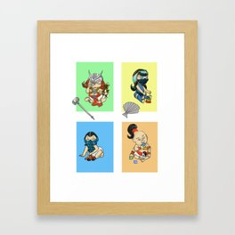 Mortal Kombat Kids Framed Art Print