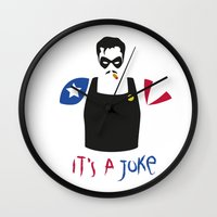 watchmen Wall Clocks featuring [ Watchmen ] The Comedian by Vyles
