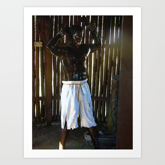 African Slave Sculpture Art Print