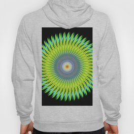 Green Machine Spiral Art Design Hoody