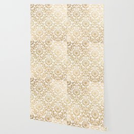 Gold foil swirls damask 16 Wallpaper