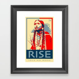 RISE - Idle No More Framed Art Print