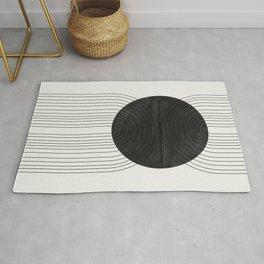 Line Art and Circle Rug