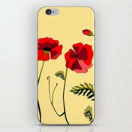 Adorable Red Poppies Unfold iPhone Skin