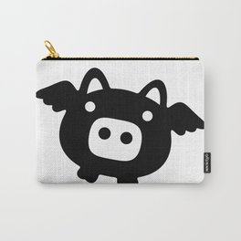 Pigs Will Fly (b&w) Carry-All Pouch