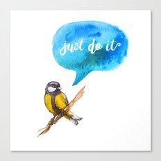Just Do It - Motivational Bird Canvas Print