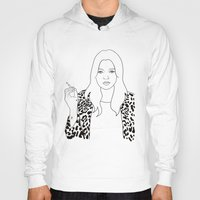 kate moss Hoodies featuring Kate Moss by Whiteland