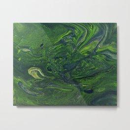Swirling Jade Metal Print