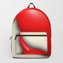 Heart Series Love Red Devil Horns Love Valentine Anniversary Birthday Romance Sexy Red Hearts Valent Backpack
