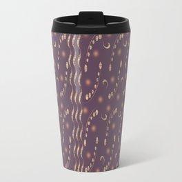 Antiqued Purple Musical Notes Honey Locust Print Travel Mug
