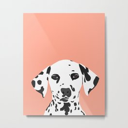 Casey - Dalmation art print phone case decor for pet lover and dog lover Metal Print