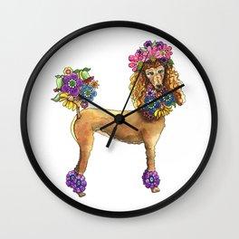 Poodle Dee Doo Wall Clock