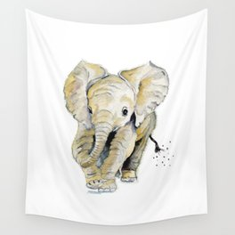 Baby Elephant Wall Tapestry