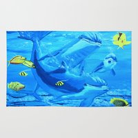 underwater Area & Throw Rugs featuring Underwater by maggs326