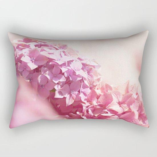 Dreamy pink hydrangea - Flower - Floral Rectangular Pillow