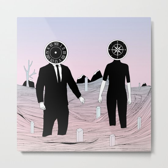 Time and Journey (To a Place I've Never Been Before) Metal Print