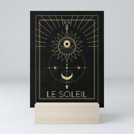 Le Soleil or The Sun Tarot Mini Art Print