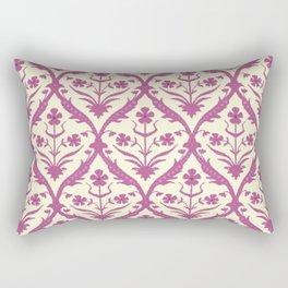 Rosa trellis ikat Rectangular Pillow