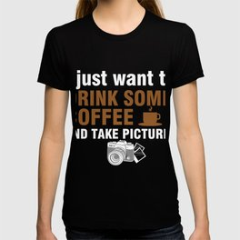 Photographer T-Shirt For Coffee Lover. T-shirt