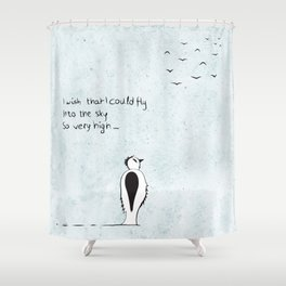 I wish that I could fly Shower Curtain