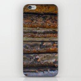 Aged Log Cabin rustic decor iPhone Skin