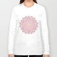 calligraphy Long Sleeve T-shirts featuring Calligraphy: Love  by Joumana Medlej
