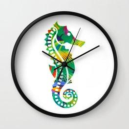 LEO KAI: SEA HORSE Wall Clock