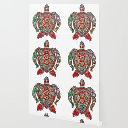Colorful Sea Turtle Abstract Mandala Wallpaper